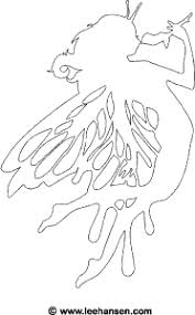 flower fairy coloring page or stencil