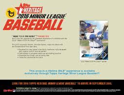 topps heritage minor league baseball cards