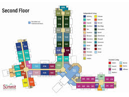 senior living floor plans the summit