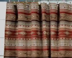 amazing western shower curtains and western fabric for curtains