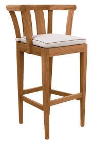 Sutherland Outdoor Furniture Traditional Bar Chair Walnut Garden Lotus By John Hutton