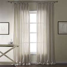Custom Linen Curtains Twopages Classic Linen Jacquard Stripe Eco Friendly Double Pleated