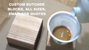 staining butcher block countertops youtube