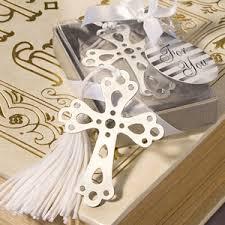bookmark favors silver cross bookmark favors