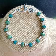 ceramic bracelet images Sea green speckled ceramic bracelet jpg