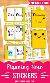 time design planner cute planning time stickers free printable planner stickers
