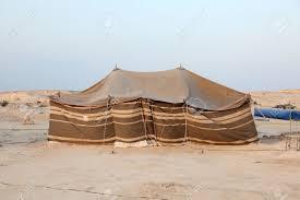 desert tent bedouin tent in the desert of qatar middle east stock photo