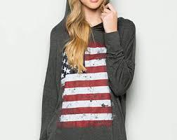 American Flag Cardigan American Flag Hoodie Etsy
