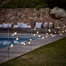 Outdoor Fence Lighting Ideas by Bistro Bulb Fairy Lights 20 Bulbs Christmas The White