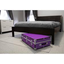 under the bed seward trunk under bed wheeled storage footlocker trunk 19 gal