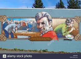 chemainus town outdoor wall murals british columbia canada stock chemainus town outdoor wall murals british columbia canada