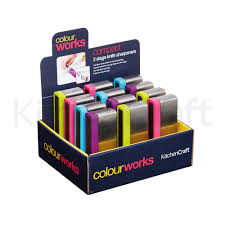colourworks display of 12 two stage draw through knife sharpeners