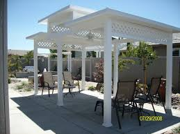 White Vinyl Pergola Kits by Magnificent Vinyl Pergola Patio Covers Ideas In White