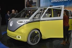 volkswagen electric car volkswagen i d buzz is an electric mystery machine in detroit