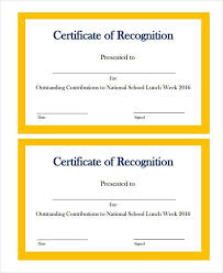 certificate of recognition samples best 25 certificate of