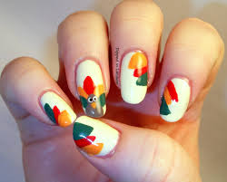 25 latest thanksgiving nail art designs