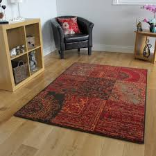 Large Modern Rug by Warm Orange Red Rugs Traditional Small Large Rugs New Patchwork