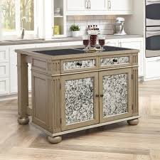 granite topped kitchen island home styles visions kitchen island with granite top reviews wayfair