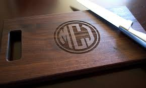 monogramed cutting boards cutting board personalized cutting board laser engraved 8x14