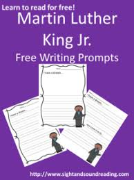 martin luther king jr holiday worksheets writing prompts mrs