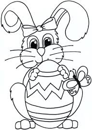 bunny coloring pages printable easter basket template free images