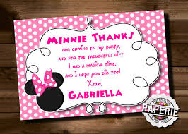 minnie mouse thank you cards awesome minnie mouse invitation template 27 free psd vector
