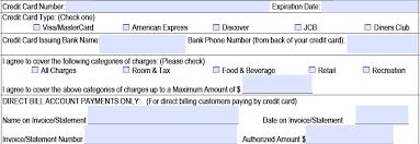 download hilton credit card authorization form template pdf