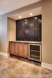 herringbone kitchen backsplash interior beautiful l shape kitchen decoration with dark brown