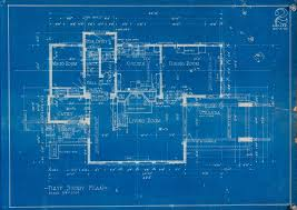blue prints house remodel or relocate wolf design