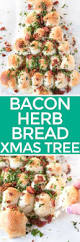 bacon herb and cheese christmas bread tree pig of the month bbq