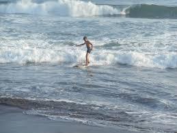 my first ever surfing lesson pacific ocean barra de santiago el