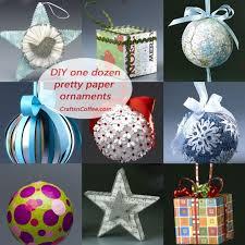 one dozen pretty paper ornaments you can make crafts n coffee