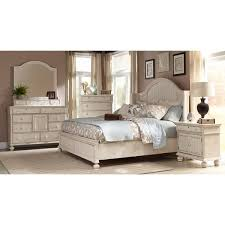 Overstock Bedroom Sets | laguna antique white panel bed 6 piece bedroom set by greyson living