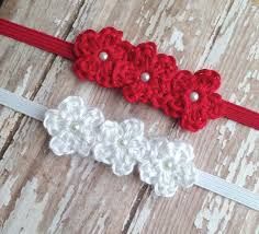 crochet flower headband baby headband newborn photo prop baby girl headband crochet