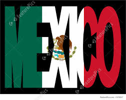 Mecican Flag Illustration Of Mexico Text With Flag