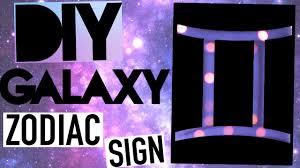 DIY Tumblr Room Decor Galaxy Sign
