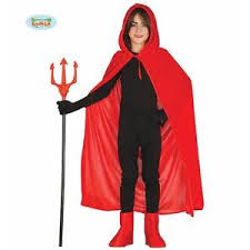 kids red velvet long hooded cape cloak halloween medieval girls