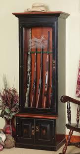 Gun Cabinet Specifications Amish Gun Cabinets Oak Cherry Maple Gun Cabinets