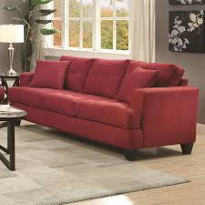 Prime Brothers Furniture by Coaster Samuel Sofa Red Centerfieldbar Com