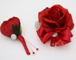 Red Rose Corsage Red Rose Corsage Etsy