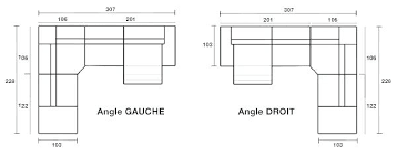 canap d angle dimension taille canape angle canapac en cuir tosca l dimensions dimension
