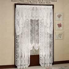 fiona scottish lace swag valance window treatment