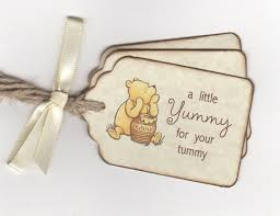 winnie the pooh baby shower favors classic winnie pooh baby shower tags for baby shower favors