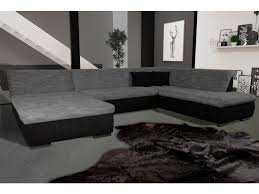 canapé à conforama canap eacute silema panoramique angle droit gris noir 5900652889068