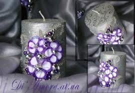 Purple And Silver Wedding Purple And Silver Wedding Unity Candle From The Collection Art