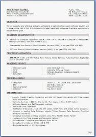 Best Resume Title For Freshers by Cv Samples For Freshers Bca