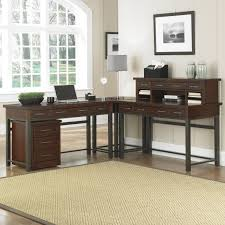 L Desk With Hutch Bush Office Connect Achieve L Shaped Desk With Hutch And Lateral