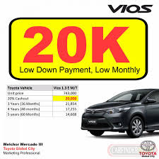 toyota philippines vios 20k all in dp toyota vios e 1 3 m t new and used cars for sale