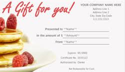 dinner and a gift card bistro and bar gift certificate templates easy to use gift