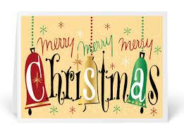 vintage retro merry christmas card 3460 ministry greetings